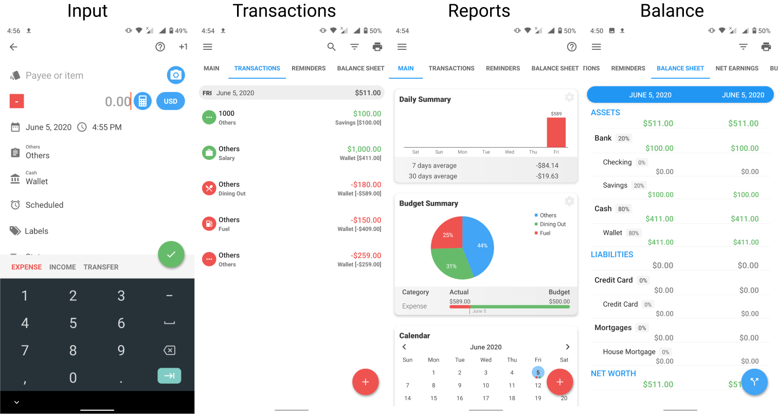 Bluecoins Finance: Budget, Money & Expense Manager